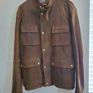 MASSIMO DUTTI MEN SHEEP LEATHER JACKET